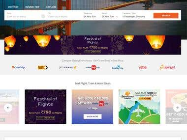 ixigo Travel and Hotel Booking Website