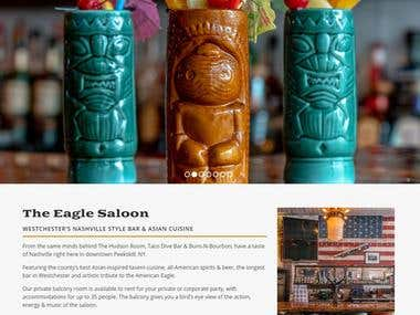 Eagle Saloon - Online Restaurant book