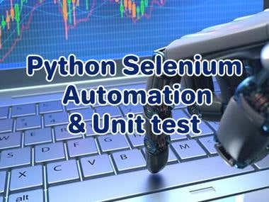 Web Automation with selenium & Unit test