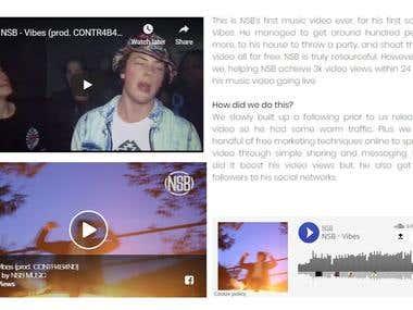 Organic Facebook Music Video Marketing