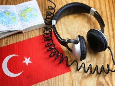 I Will Deliver Turkish Audio Or Video Transcription