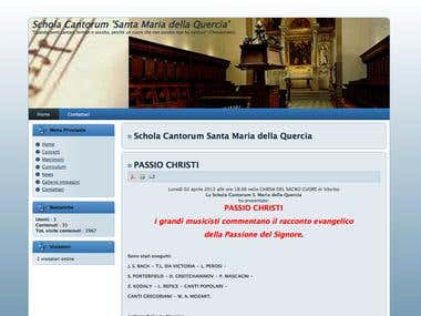 Choral web site