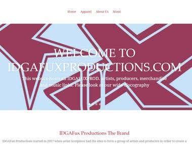 IDGAF Productions E-commerce Website Design