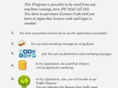 Marketing App in Java