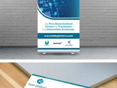 Standee and Business Card Design