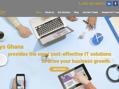 Website for IT Business