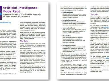 Case Study & Testimonial: IBM Watson