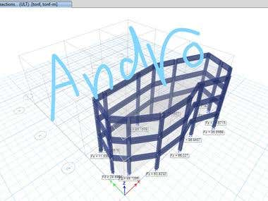 Structural Design of 3 Floors Building with Eurocode.