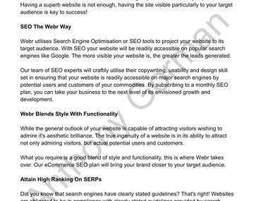SEO Web Content