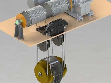 Hoist Machinery Designed by Crane Design Software