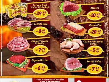 Panfleto para supermercado