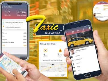 'Taxic' - iOS and Android Taxi Platform