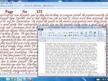Scane Image to Word Typing