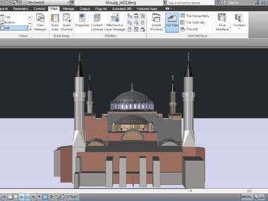 - Autocad Mosque 3D Model.