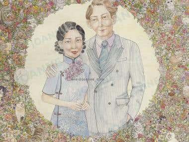 illustration, Portrait