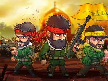 """""""FreedomFighters"""" Game Project"""