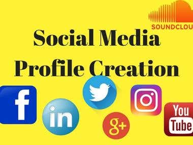 social media profile creation, social profile setup