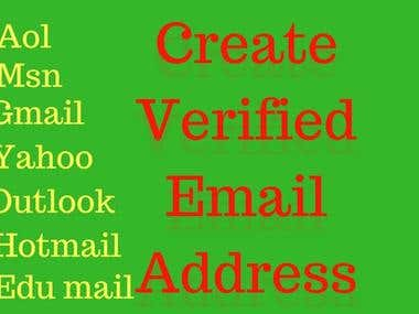 Create Verified Email Address