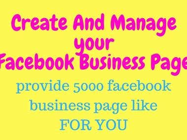 Create Facebook Business Page and like your page