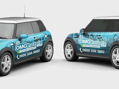 OMG Hotels (Car Wrap Design)