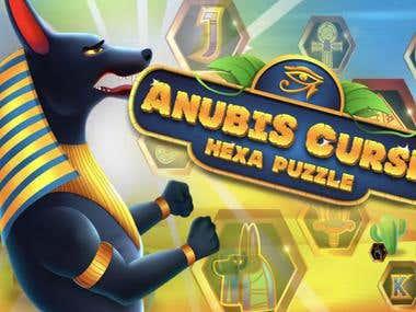 Anubis Curse - Hexa Puzzle Game