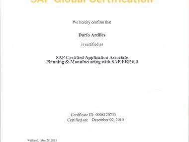 SAP Certification Supply Chain