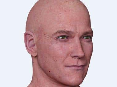 Photorealistic man model