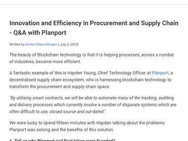 Innovation and Efficiency in Procurement and Supply Chain