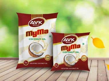 Myma Coconut oIl package Design