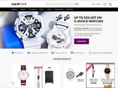GemFive Ecommerce website
