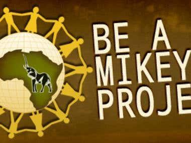 Be A Mikey Project website design