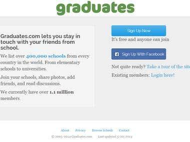 Graduates.com homepage