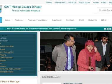 Web application of Govt. Medical College Srinagar