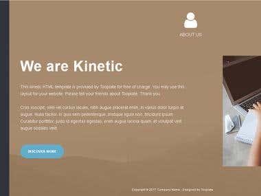 kinetic HTML