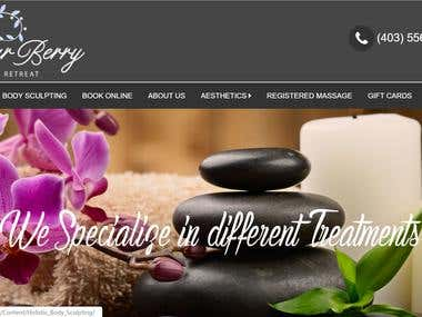 Spa Booking Website