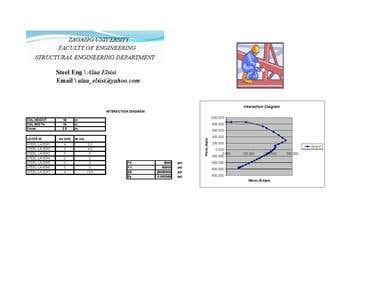 RC Column Excel Sheet