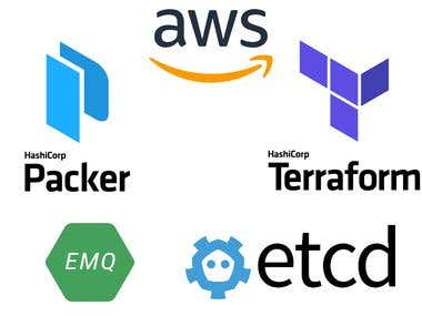 eMQTT & ETCD clusters at AWS using Packer & Terraform