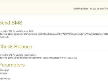 SMS API Gateway