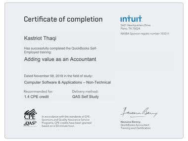Quickbooks Online Certification 2
