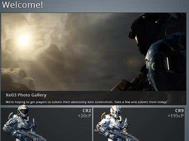 Gaming Website - Tablet