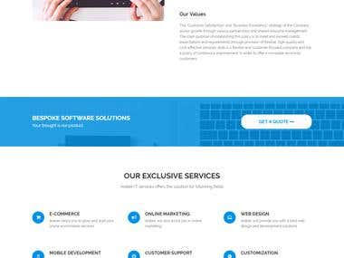 Develop your customize Business or Company websites
