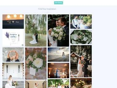 Wedding site / Booking system