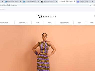 Nkemdior eCommerce Clothing Website
