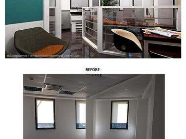 Office Interior Design (Competition Entry)