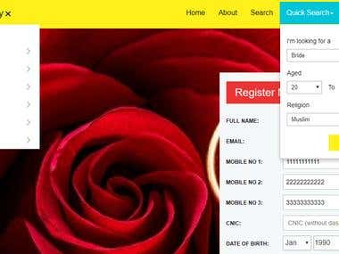 Matrimonial Website