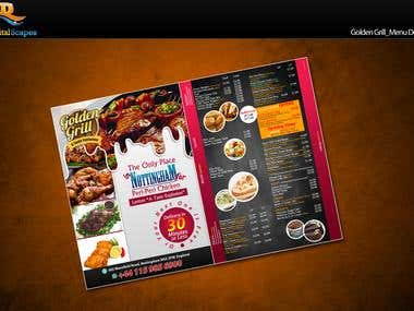 Golden Grill_Menu Design