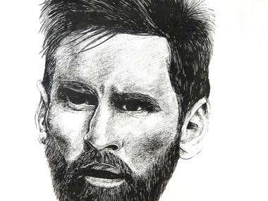 MESSI PORTRAIT COMISSION