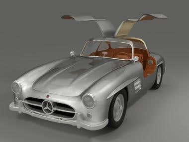 Mercedes Sl modeling