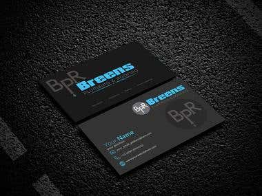 Business card design for-Breens plumbing & roofing company