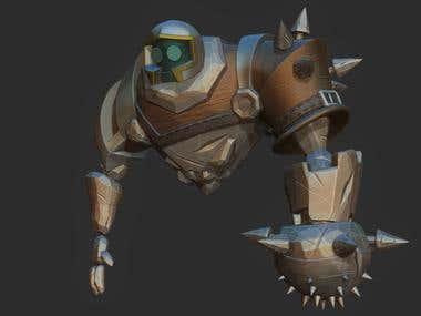 GOLEM Animation, Rigged 3D game model